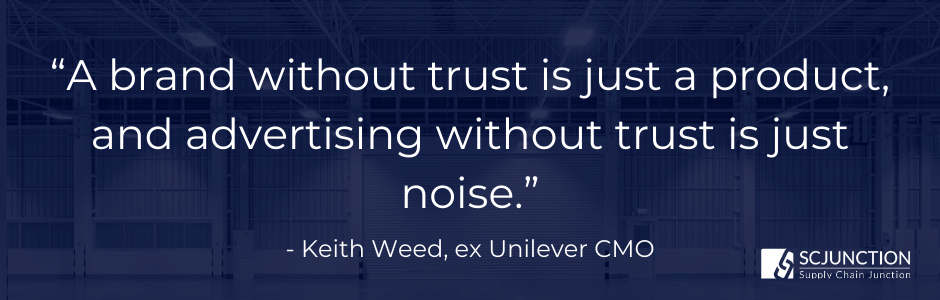 A brand without trust is just a product, and advertising without trust is just noise
