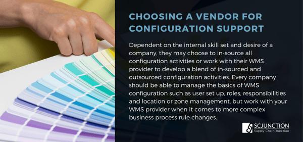 Choosing a vendor for config support