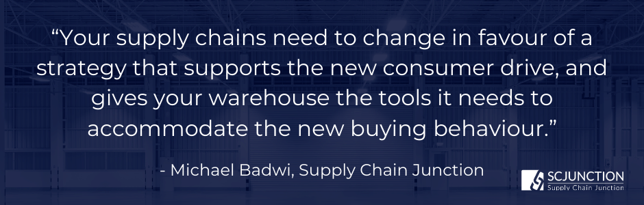 Your supply chains need to change in favour of a strategy that supports the new consumer drive, and gives your warehouse the tools it nee